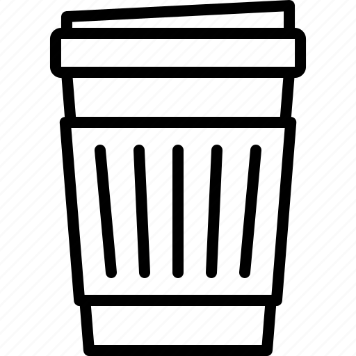 bean, cafe, coffee, cup, drink, holder, paper icon