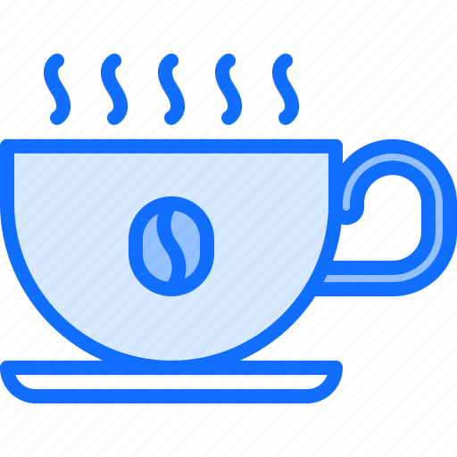 bean, cafe, coffee, cup, drink, hot, smoke icon