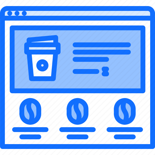 bean, cafe, coffee, cup, drink, website icon