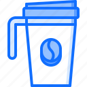 bean, cafe, coffee, cup, drink, thermomug icon