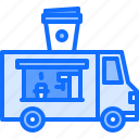 bean, cafe, coffee, cup, drink, truck