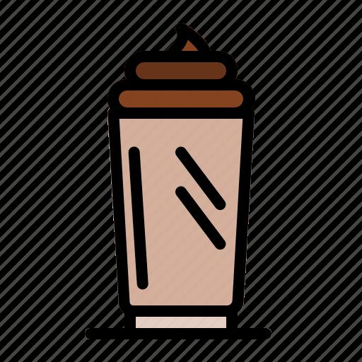 arabica, caffeine, cappuccino, coffee, coffee beans, espresso, ice cream icon