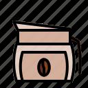 arabica, beverage, caffeine, cappuccino, coffee, coffee beans, espresso icon