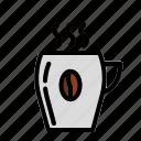 arabica, caffeine, cappuccino, coffee, coffee beans, espresso, mug icon