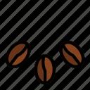 arabica, caffeine, cappuccino, coffee, coffee beans, espresso, shop icon