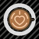 beverage, cafe, coffee, drink, espresso, latte icon