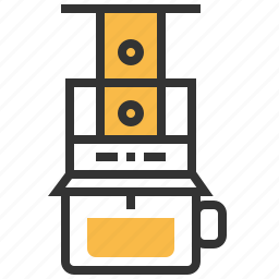 aeropress, beverage, coffee, drink icon