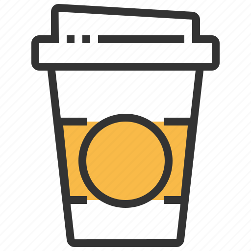 beverage, coffee, cup, drink, out, take icon
