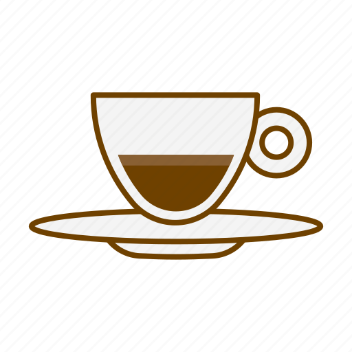 beverage, cafe, coffee, cup, drink, espresso, espresso doppio icon