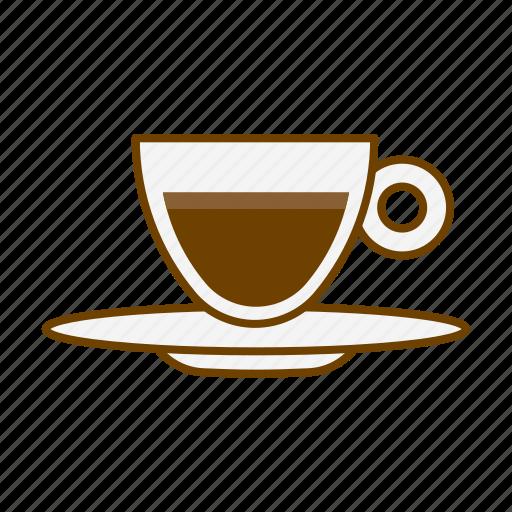 beverage, cafe, caffeine, coffee, cup, drink, espresso lungo icon