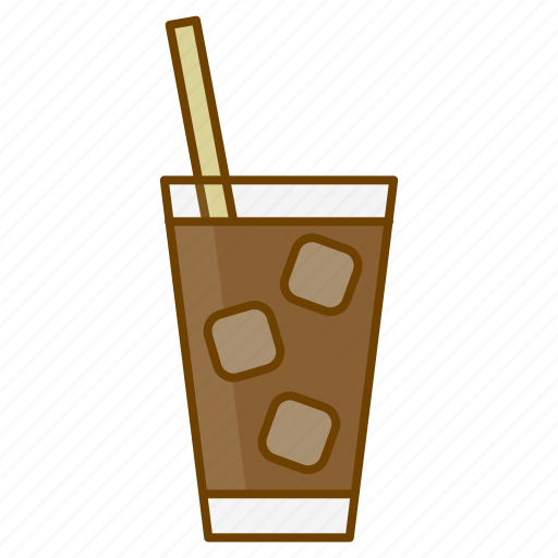 beverage, caffeine, coffee, cold coffee, cup, drink, ice coffee icon