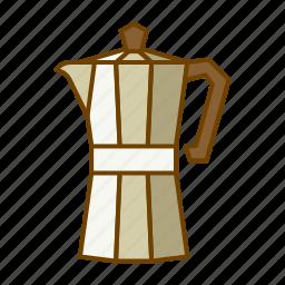 caffeine, coffee, drink, moka, pot, preparation icon