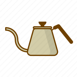 coffe pot, coffee, drink, hario buono, preparation, water icon