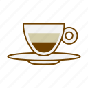 beverage, caffeine, coffee, cup, drink, espresso, macchiato icon