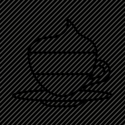 beverage, caffeine, coffee, cup, drink, hygge, vienna coffee icon