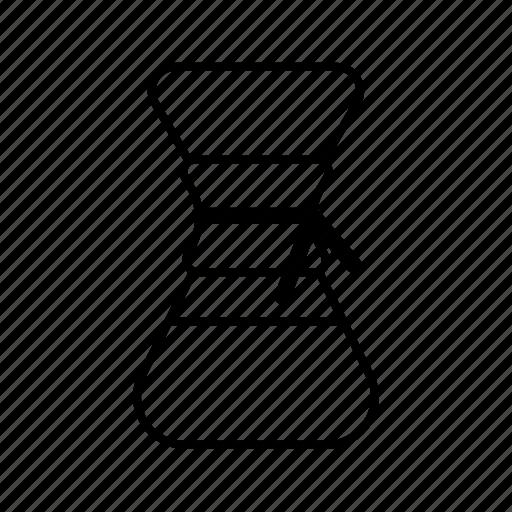 caffeine, chemex, coffee, filter, hipster, pot, preparation icon