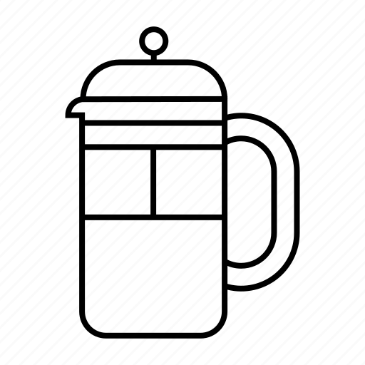 Coffee, drink, caffeine, preparation, cafe, frenchpress icon