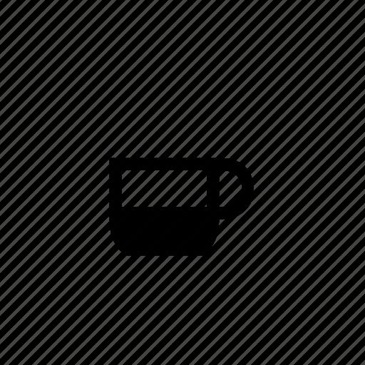 coffee, cup, drink, half icon