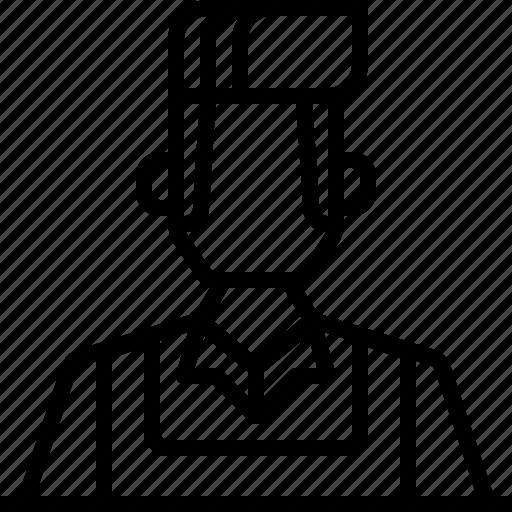 avatar, barista, man, people, uniform icon