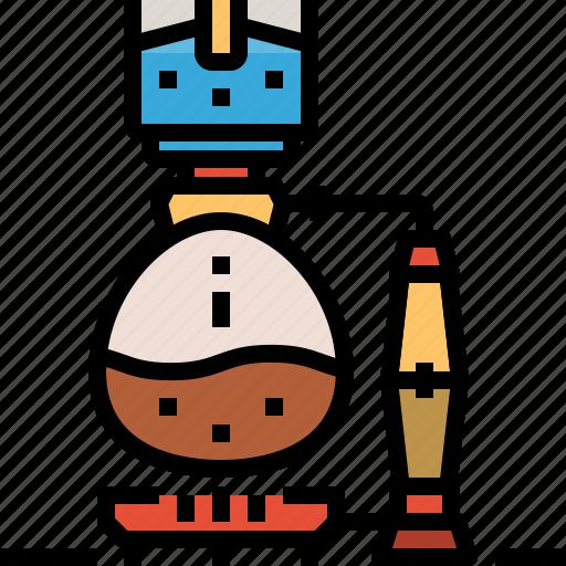 coffee, drink, machine, maker, syphon icon