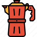 coffee, espresso, maker, moka, pot icon