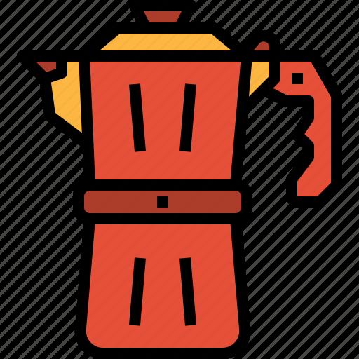 coffee, espresso, maker, moka, pot icon