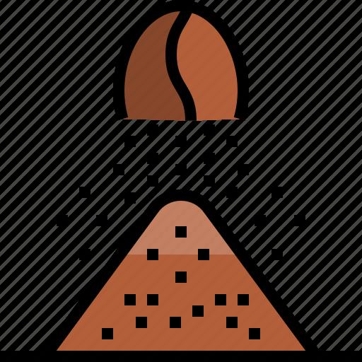 blend, coffee, dried, freeze, powder, roasted icon