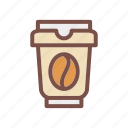 cafe, cappuccino, coffee, cup, drink, espresso, hot icon