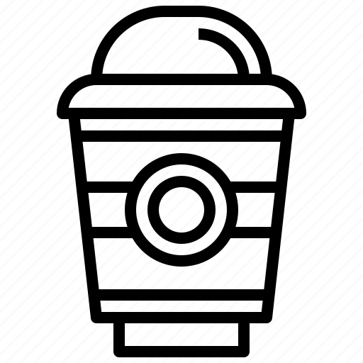 coffee, cup, drink, food, iced, paper icon