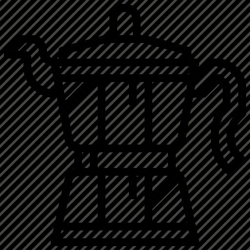 Coffee, kitchenware, pot, drink, hot, moka icon