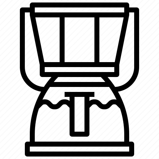coffee, drink, kitchenware, machine, shop, technology icon