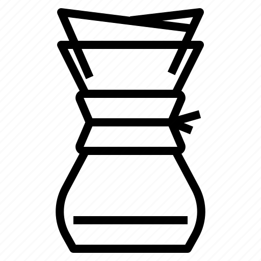 Chemex, coffee, filter, maker icon - Download on Iconfinder