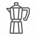 cafe, coffee, drink, hot, maker, moka, pot icon