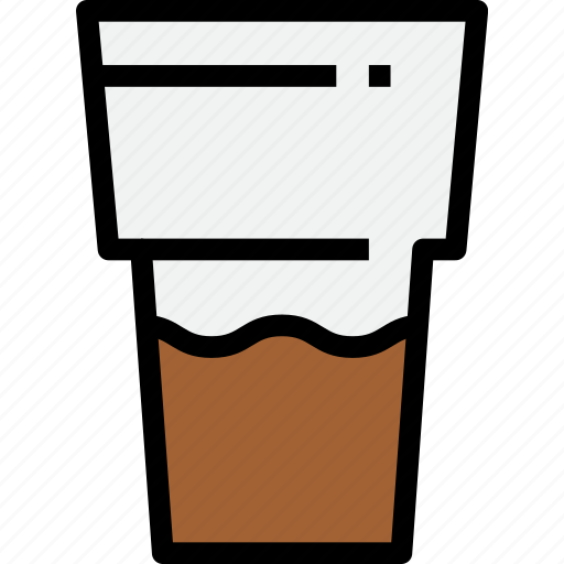 beverage, coffee, drink, espresso, glass icon