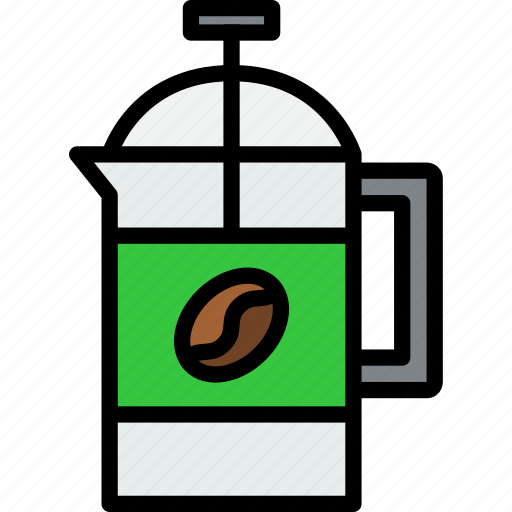 beverage, drink, french, press icon