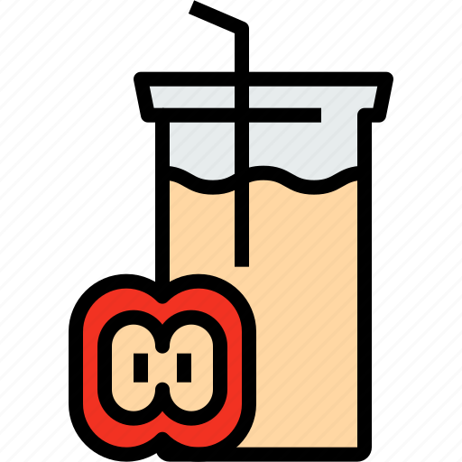 apple, beverage, drink, glass, juice icon