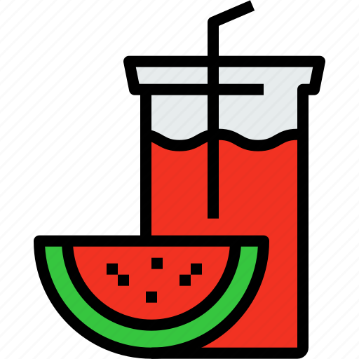 beverage, drink, glass, juice, watermelon icon