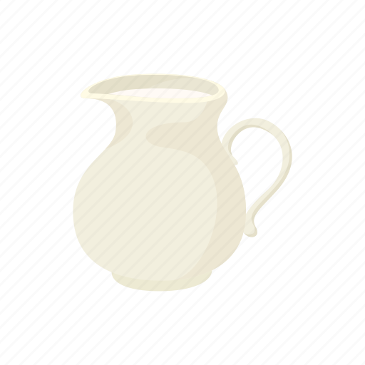cartoon, dairy, drink, glass, jug, liquid, milk icon