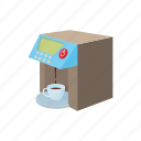 beverage, caffeine, cartoon, coffee, kitchen, maker, modern icon