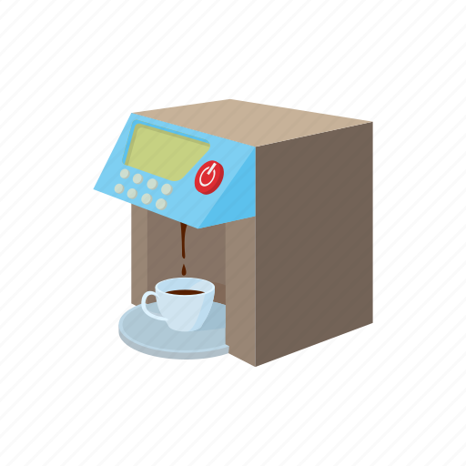 beverage, caffeine, cartoon, coffee, kitchen, maker, modern icon