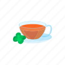 beverage, cartoon, cup, drink, glass, hot, tea icon
