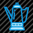 coffee, cup, equipment, kettle, percolator, pot icon