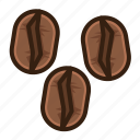 beans, brown, cafe, coffee, rosting, vintage icon