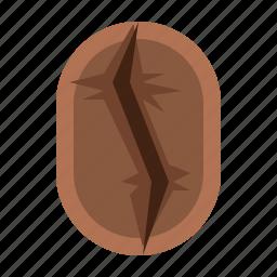 bean, brown, cafe, coffee, roasting, vintage icon