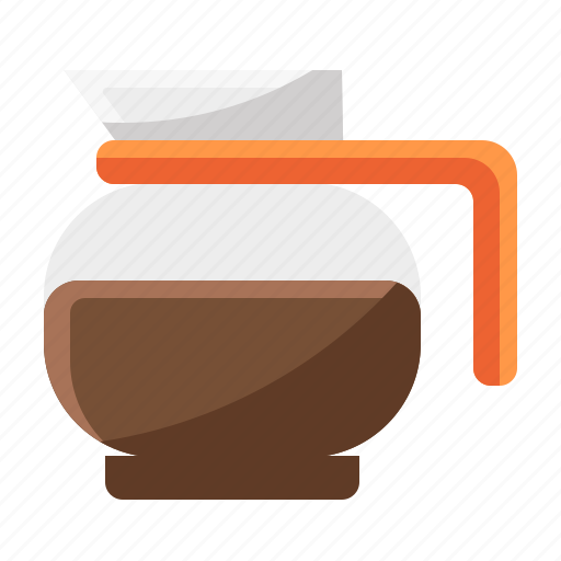 brown, cafe, chemex, coffee, over, pour, vintage icon