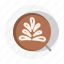 brown, cafe, coffee, latte, vintage icon