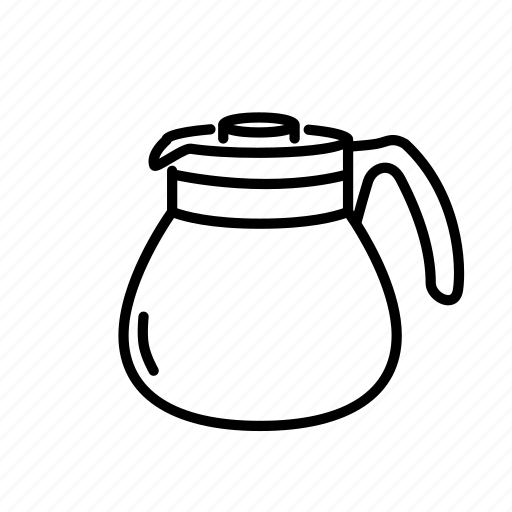 coffee, drip, equipment, filters, glass, hario, jug icon