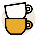 cafe, coffee, cup, cups, drink, hot drink, mug icon