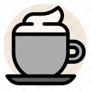 cafe, cappuccino, coffee, cup, drink, hot drink, mug icon