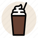 cafe, coffee, cold drink, cup, drink, frappe, mug icon